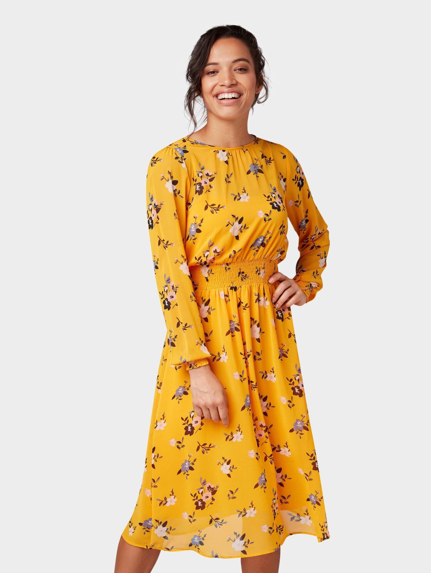 TOM TAILOR blousejurkje »jurk met bloemmotief« bestellen: 14 dagen bedenktijd
