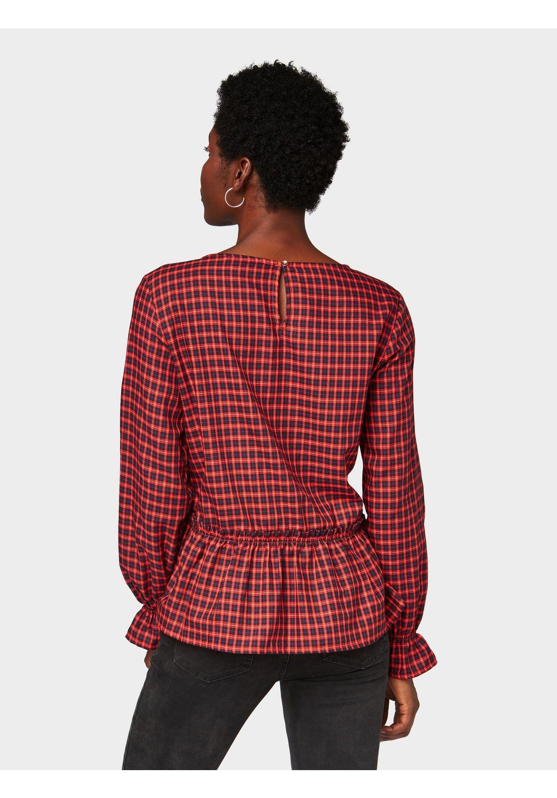 Tom Tailor Denim Shirtblouse Blouse Met Volant Aan De Zoom Bestellen Bij Rood HD0BYJAS