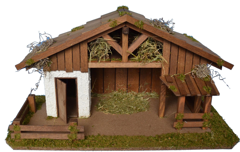 Alfred Kolbe kribbe Kerststal met vele details, voor 12 cm figuren Echt hout (1-delig) bestellen: 30 dagen bedenktijd