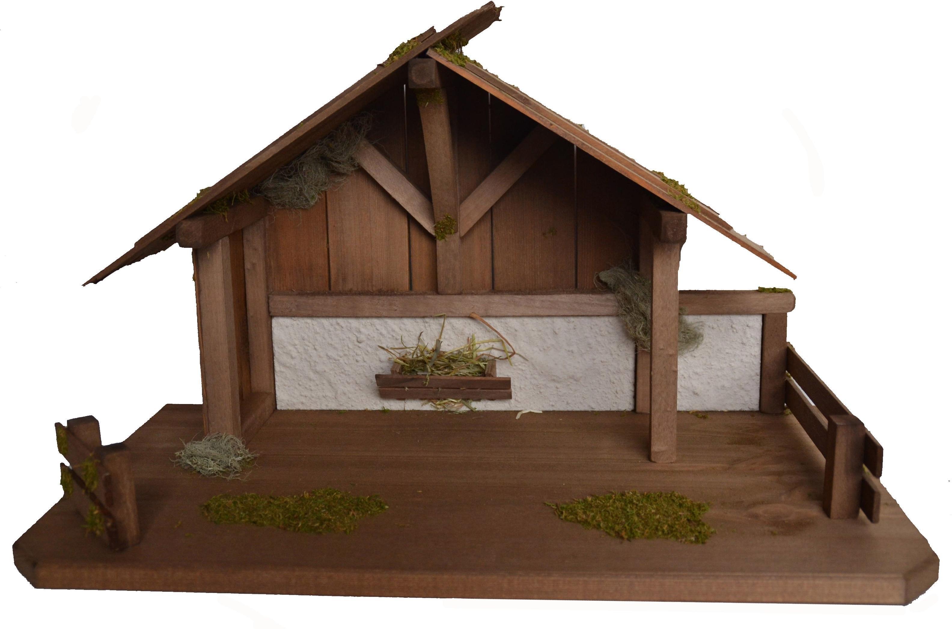 Alfred Kolbe kribbe Kerststal voor 15 cm figuren echt hout (1-delig) bij OTTO online kopen