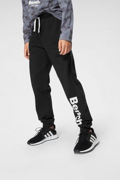 bench. sweatbroek met grote logoprint en naadzakken zwart