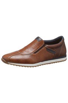 rieker slip-on sneakers bruin