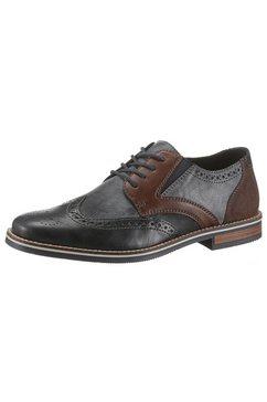 rieker schoenen met boedapest-perforatie blauw
