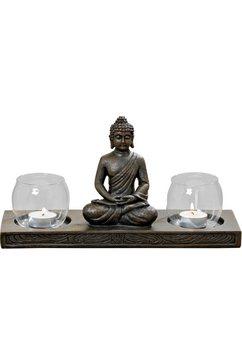 boltze windlicht »buddha« bruin