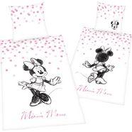 walt disney tweezijdig te gebruiken overtrekset »minnie mouse 2«, walt disney roze