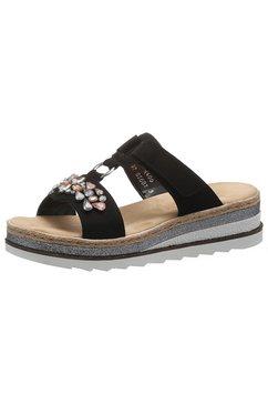 rieker slippers zwart
