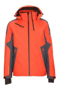 killtec ski-jack »stepfen« oranje