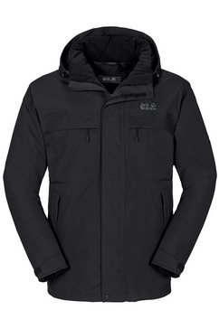 jack wolfskin winterjas »north country men« zwart