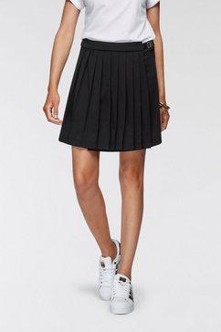 ajc minirok in een trendy tennis-look in wikkel-look - nieuwe collectie zwart