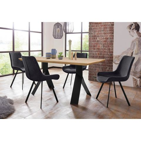 Homexperts eethoek Rose-Bridge, tafel breedte 160 cm + 4 stoelen