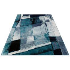 vloerkleed, »pugal«, my home, rechthoekig, hoogte 11 mm, machinaal geweven blauw