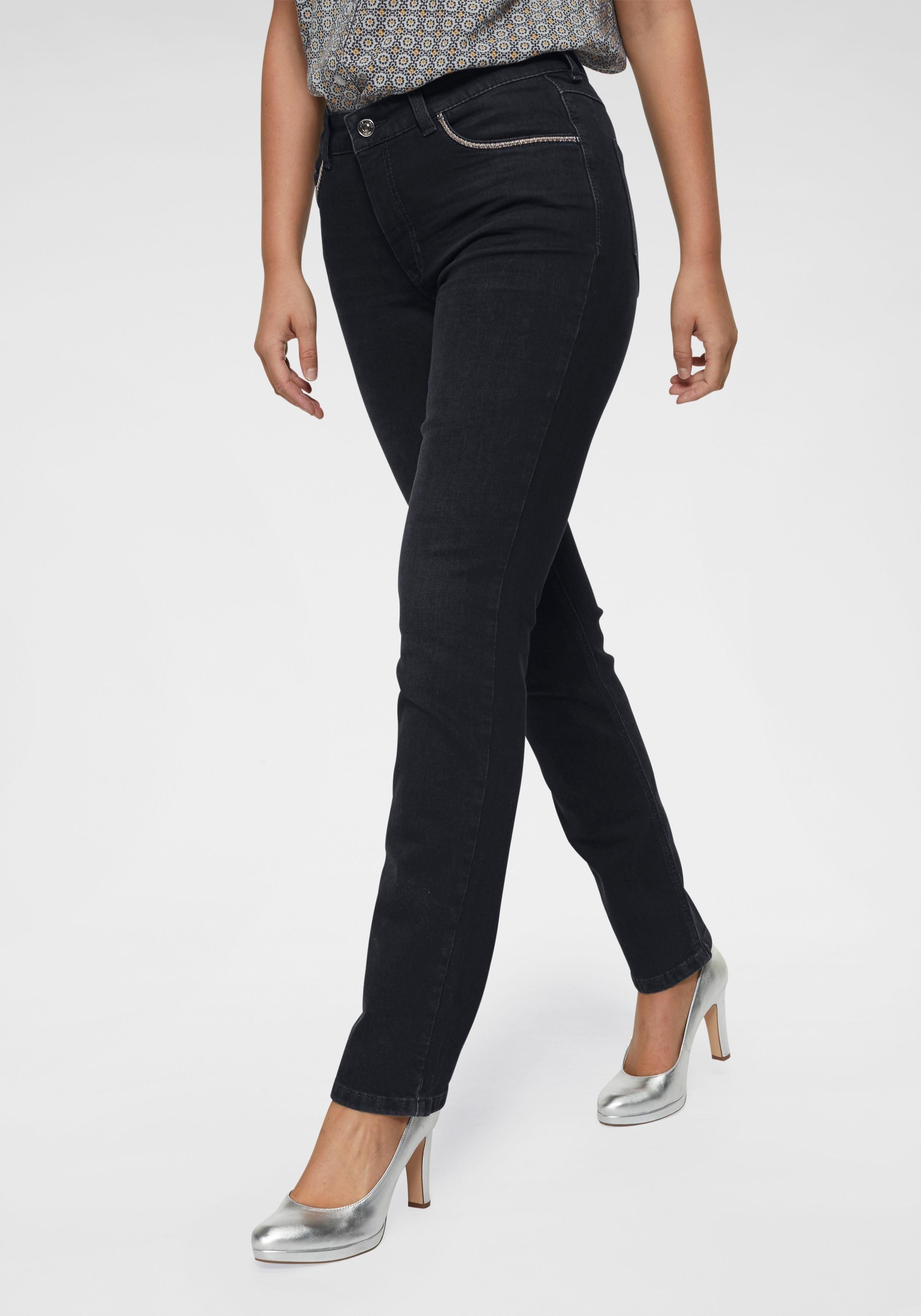 MAC straight jeans »Melanie Glam Chain« nu online kopen bij OTTO