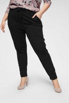 only carmakoma broek met elastische band zwart