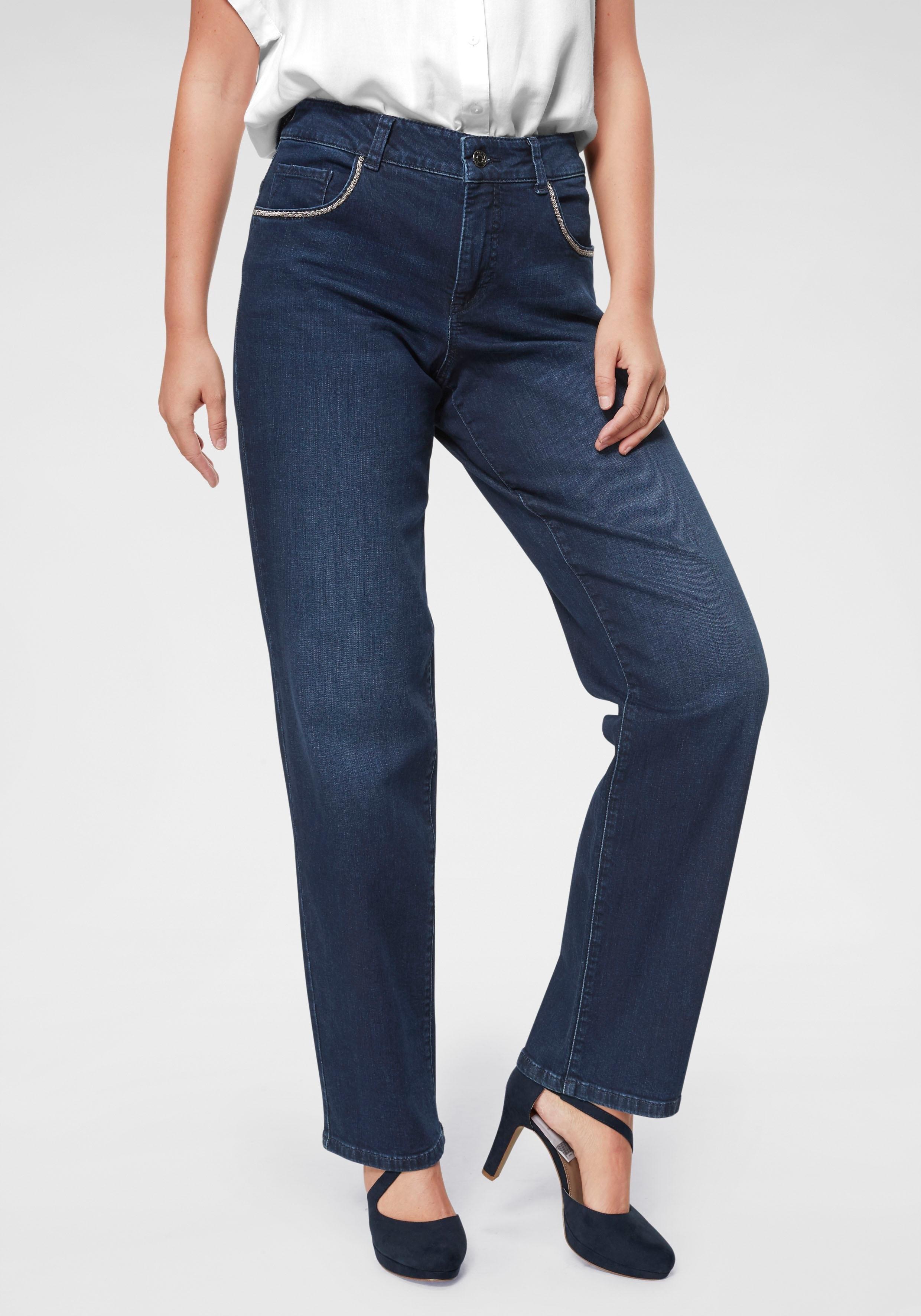 Mac 5-pockets jeans »Gracia Glam Chain« online kopen op otto.nl