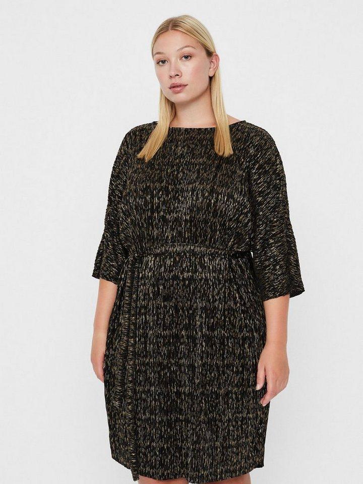 Junarose Gouden plissé jurk zwart