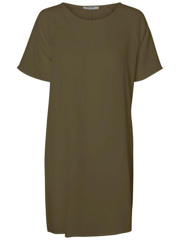 Pieces Midi met korte mouwen jurk groen