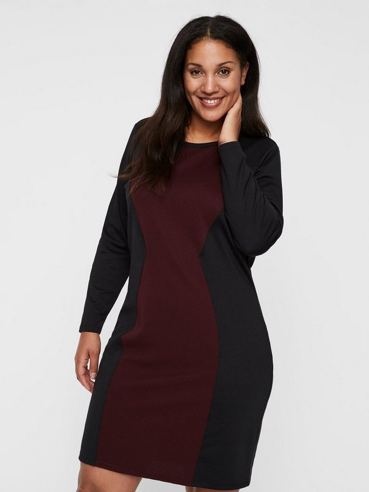 Junarose Contrasterende kleuren jurk zwart