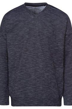 schiesser sweatshirt autumn lights in mooie gemêleerde look grijs