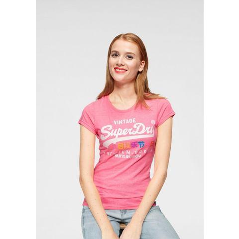 Superdry shirt met print PREMIUM GOODS PUFF ENTRY TEE