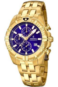 festina chronograaf »chrono sport, f20356-3« goud