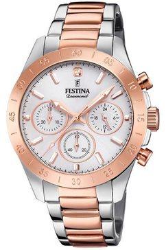 festina chronograaf »boyfriend, f20398-1« zilver