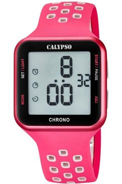 calypso watches digitaal horloge »color run, k5748-2« roze