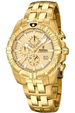 festina chronograaf »chrono sport, f20356-1« goud