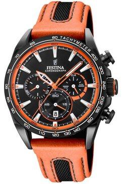 festina chronograaf »the originals, f20351-5« oranje