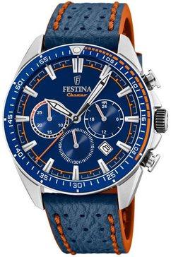 festina chronograaf the originals, f20377-2 blauw