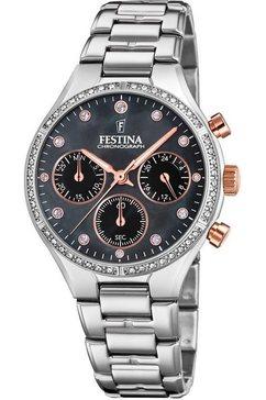 festina chronograaf »boyfriend, f20401-4« zilver