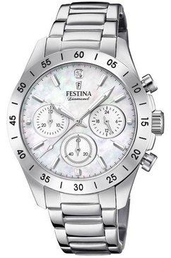 festina chronograaf »boyfriend, f20397-1« zilver