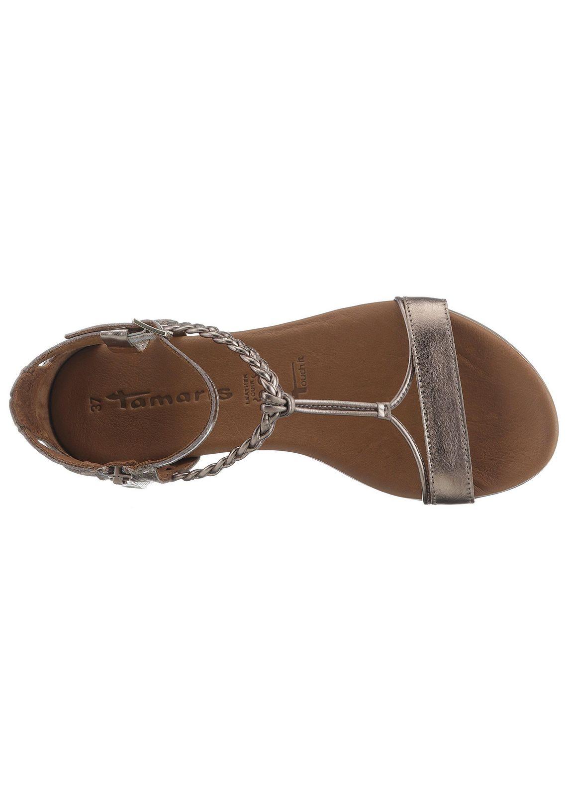 Tamaris sandalen online bij  champagne
