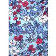 s.oliver red label beachwear bikinitop met beugels jill met patroonmix blauw