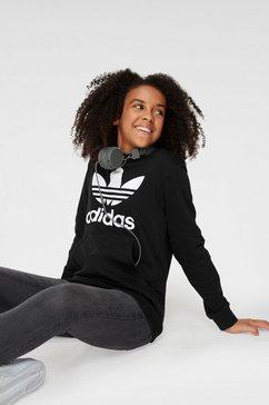 adidas originals sweatshirt trefoil hoodie zwart