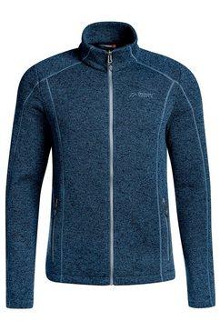 maier sports tricot-fleecejas »ivo inzip m« blauw