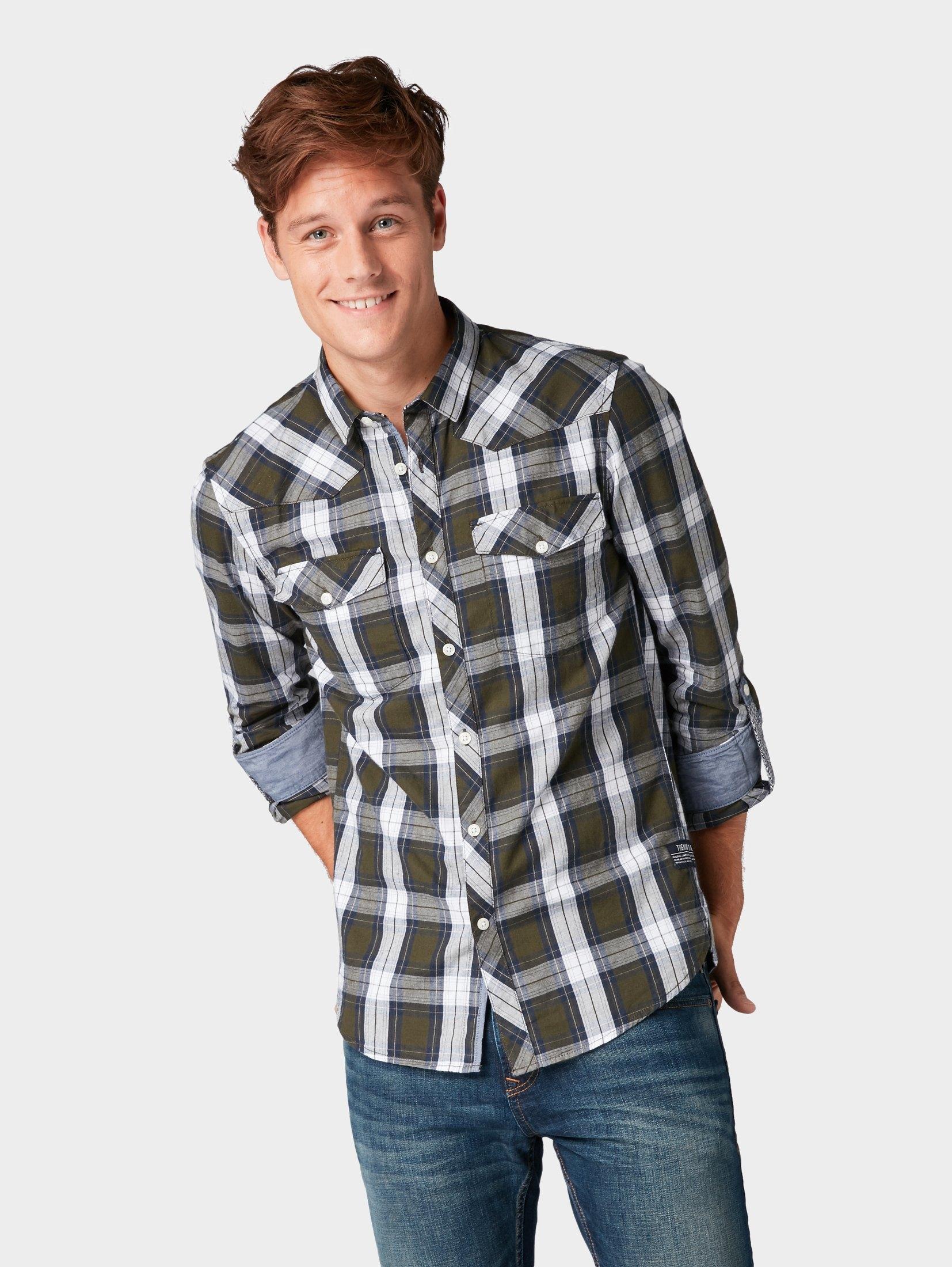 Groen Geruit Overhemd.Tom Tailor Denim Overhemd Geruit Overhemd Vind Je Bij Otto