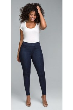 nydj sculpt pull-on legging »in curves 360 denim« blauw