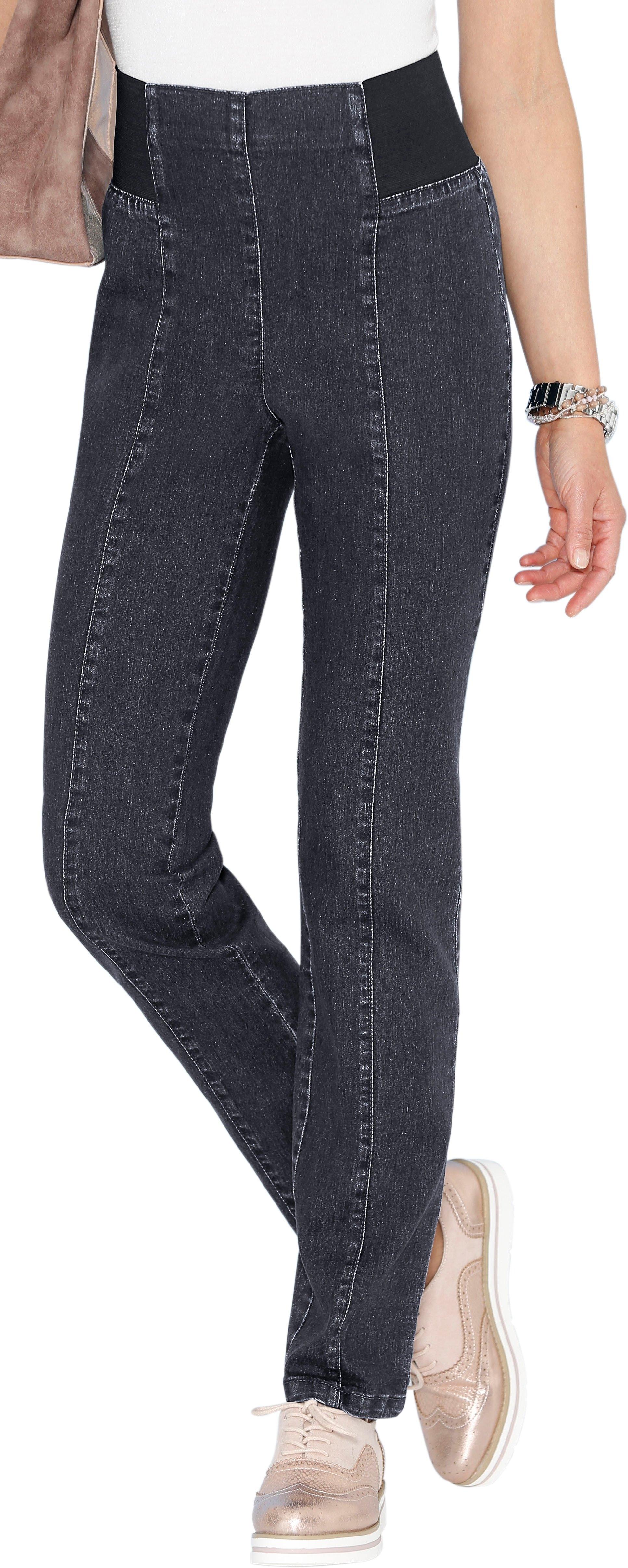 Classic Basics jeans met rondom elastische band tot en met de voorkant - verschillende betaalmethodes