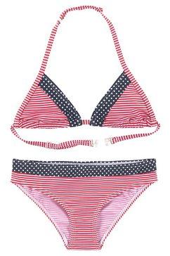 s.oliver red label beachwear triangelbikini blauw