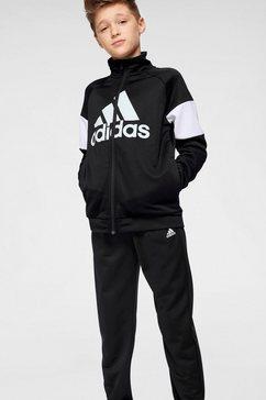 adidas performance trainingspak »young boys tracksuit batch of sport« (set, 2-delig) zwart