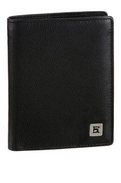 h.i.s portemonnee van zacht leer, in een eenvoudige look zwart