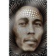wall-art artprint op acrylglas afmeting (bxdxh): 70x0,5x100 cm zwart