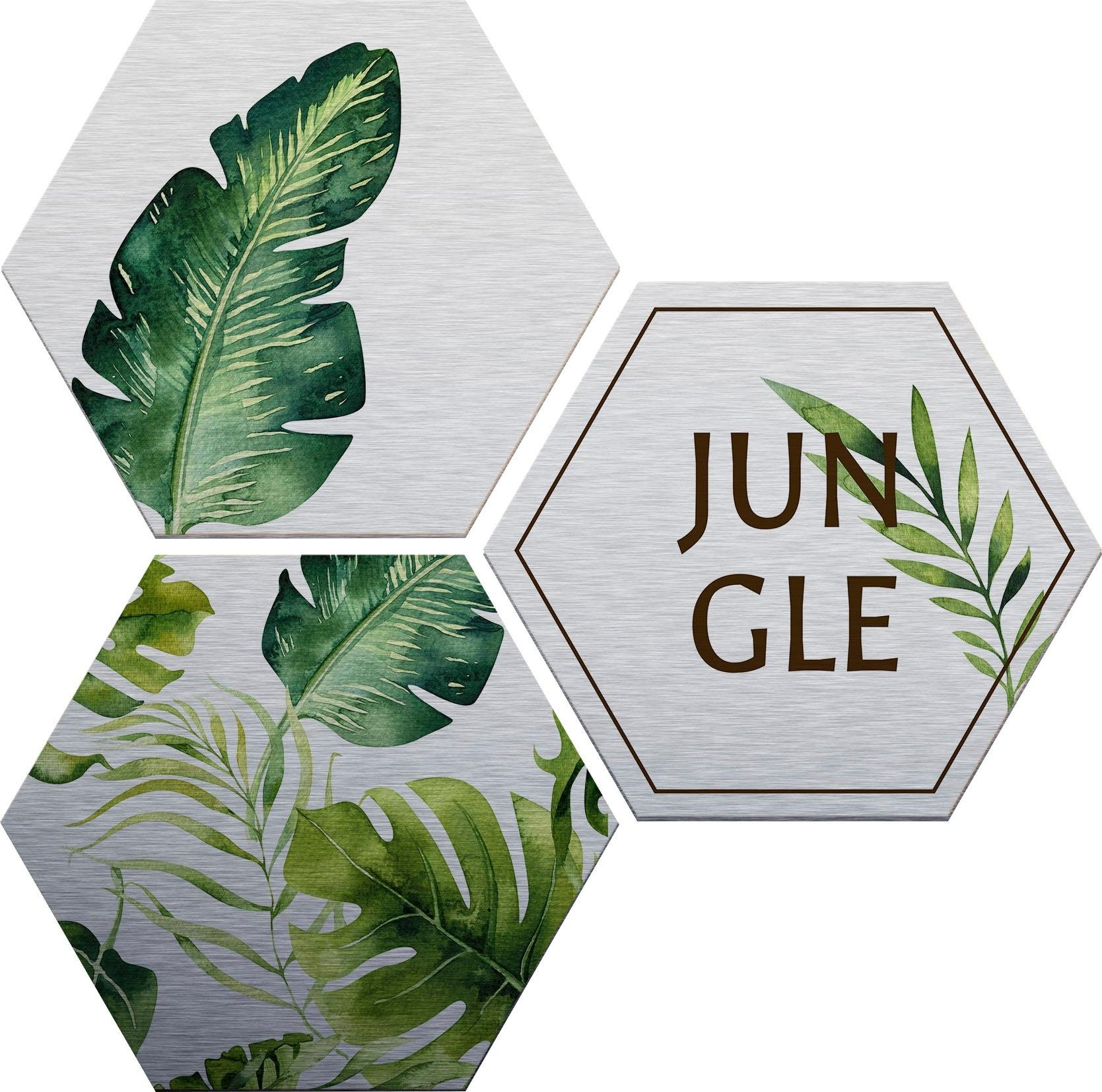 aluminium-dibondprint »Kvilis - Jungle« - gratis ruilen op otto.nl