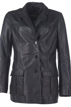 jcc leren blazer di-450 elegant en sportief zwart