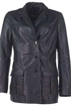 jcc leren blazer, elegant en sportief »di-450« zwart