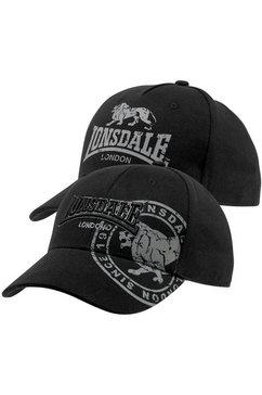 lonsdale baseballcap (set, 2-delig) zwart