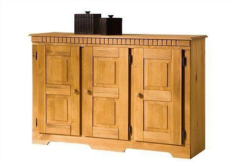 Home affaire dressoir Lisa van mooi massief grenenhout, naar keuze met 3 of 4 deuren te bestellen
