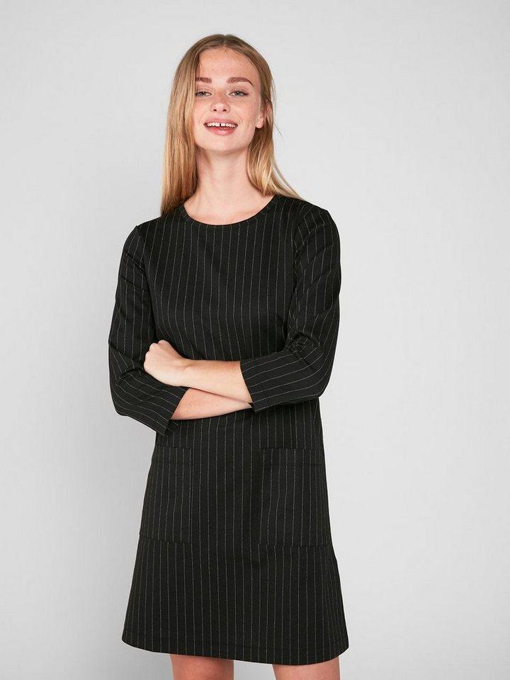 Pieces jersey met ronde hals jurk zwart