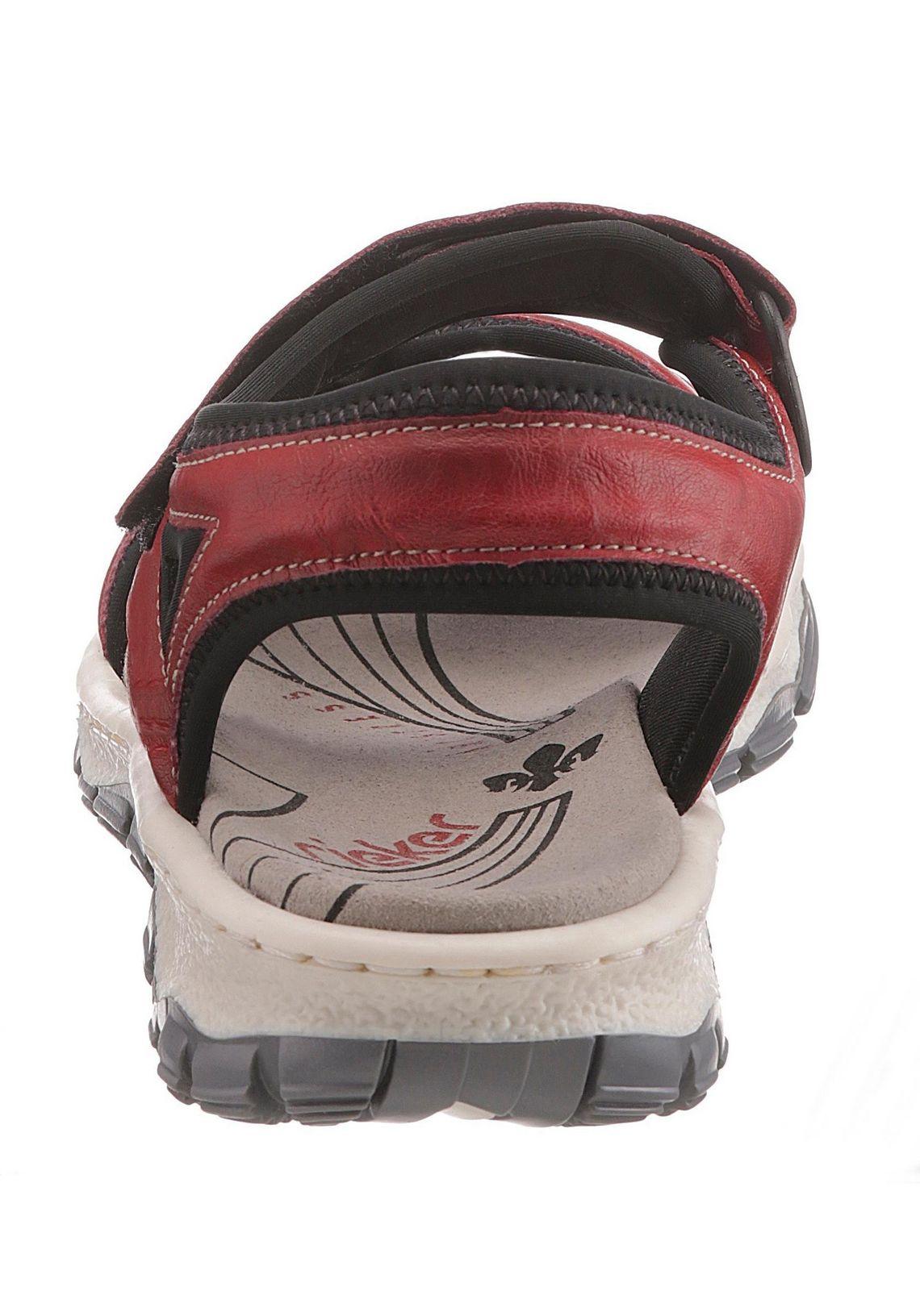 Rieker sandalen online bij  rood/zwart