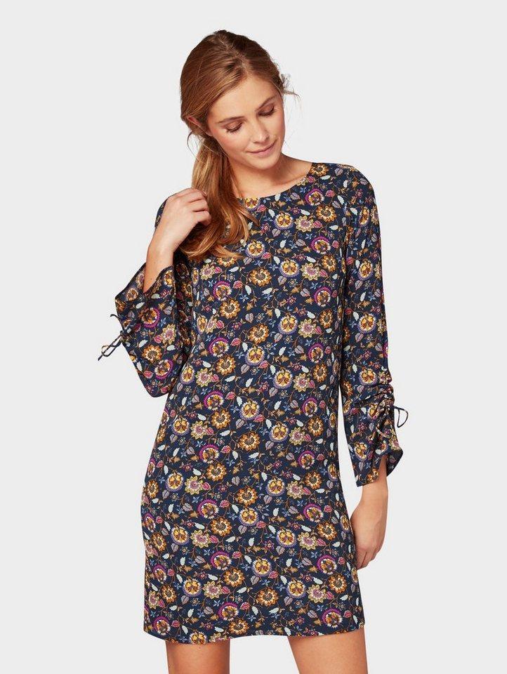 Blousejurkje jurk met bloemmotief blauw
